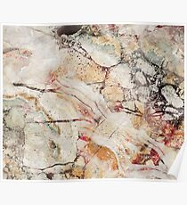 Colorful neutral tones elegant marble stone pattern Poster