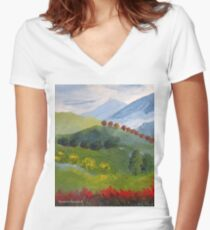 My valley Women's Fitted V-Neck T-Shirt