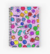 Bacteria Background Spiral Notebook