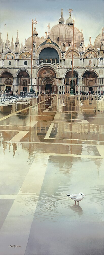 """""""Floating Palace"""" Watercolor by Paul Jackson"""