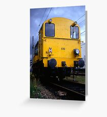 The yellow locomotive Greeting Card
