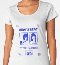 Chris & Cosey - Herzschlagblau Premium Rundhals-Shirt