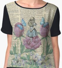 Alice In Wonderland - Wonderland Garden Chiffon Top