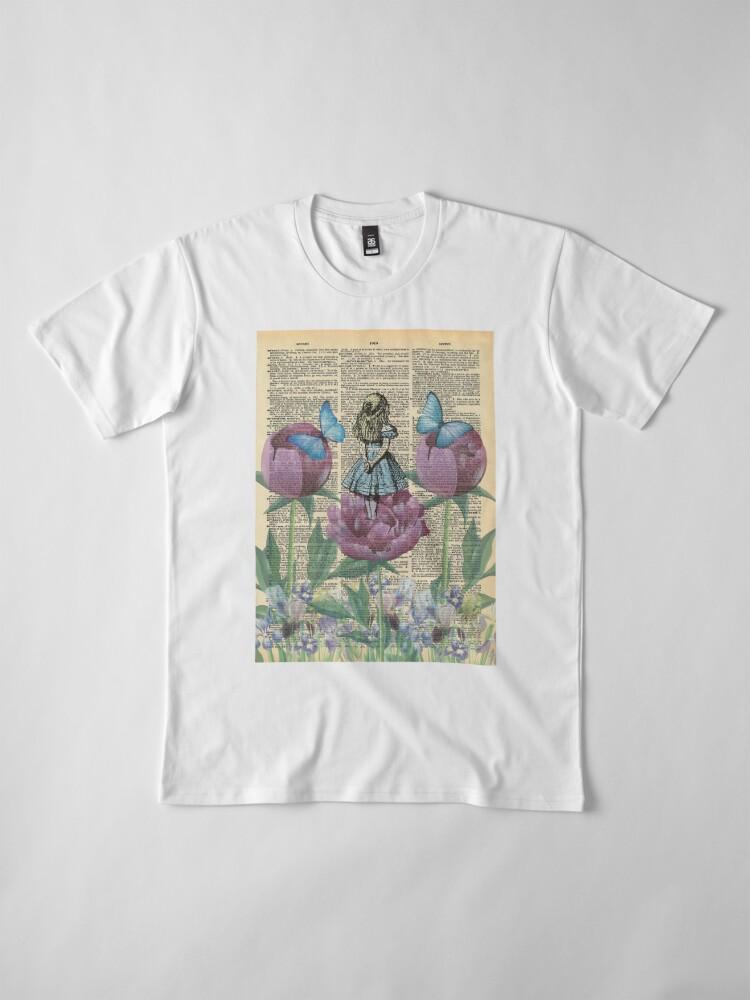 Vista alternativa de Camiseta premium Alicia en el país de las maravillas - Wonderland Garden