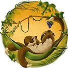 Sloth Mama & Baby by Rowena Aitken