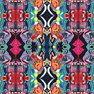 Psychedelic Abstract Pattern by Lisa V Robinson