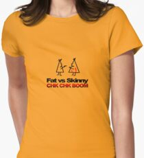 Fat v Skinny Women's Fitted T-Shirt