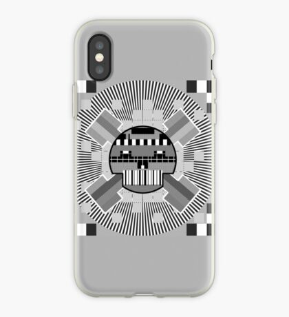 TestScreenSkull iPhone Case