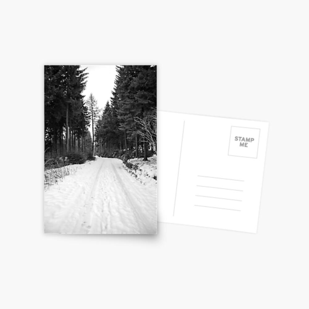 Winterlandschaft Postkarte