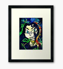 Medusa, Goddess of Darkness Framed Print
