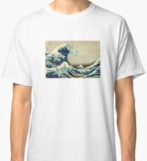 Hokusai, The Great Wave off Kanagawa, Japan, Japanese, Wood block, print Classic T-Shirt