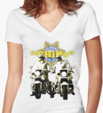 CHiPs Women's Fitted V-Neck T-Shirt