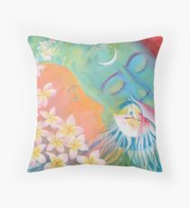 The smell of union (female-male balance) Throw Pillow