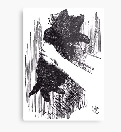The Black Kitten Metal Print