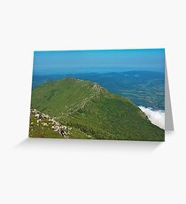 Mountain top view Greeting Card