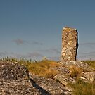 South Uist: Standing Stone at Polochar Inn by Kasia-D