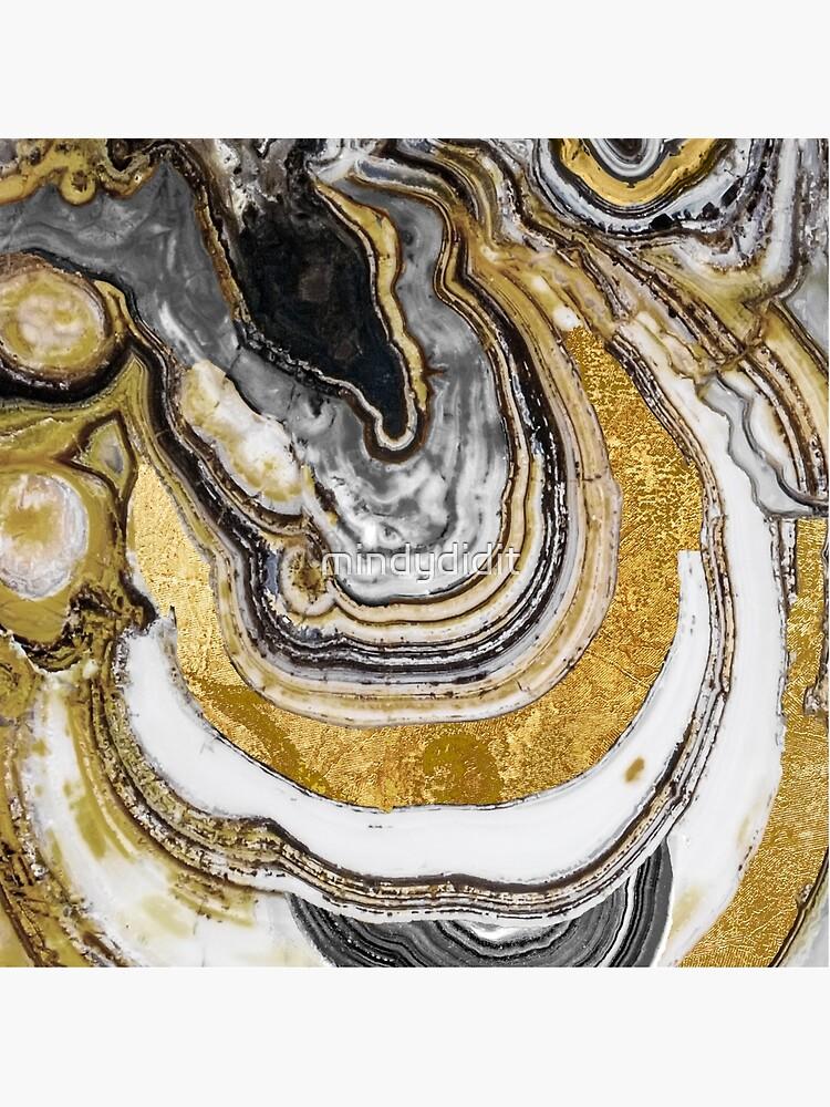 Stone Prose Gold Geode de mindydidit