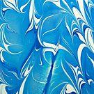 Blue Marbling by Martha Johnson
