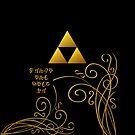 Triforce with Swirls - Hylian Text by Sarinilli