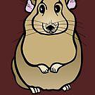 Shy Hamster by Anne van Alkemade