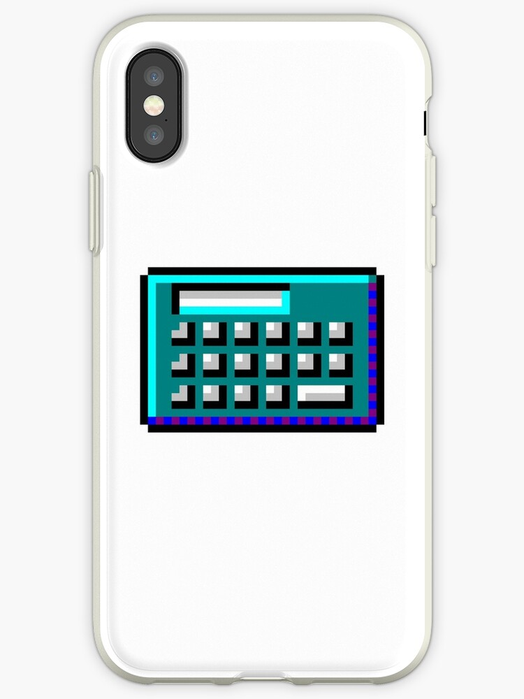 'Vintage Calculator Windows 3 11 Icon, 1993' iPhone Case by Traut