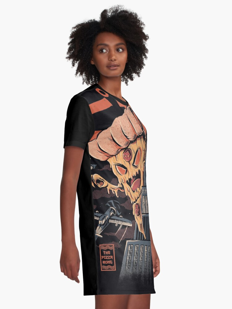 Alternate view of Pizza Kong Graphic T-Shirt Dress