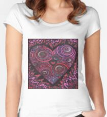 Burning Heart Women's Fitted Scoop T-Shirt