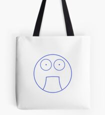 Funny Bemused Face Tote Bag