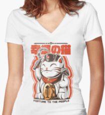 Catnist Fitted V-Neck T-Shirt