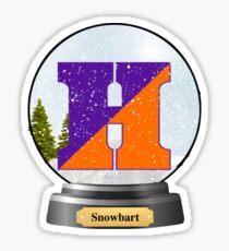 Snowbart- Hobart and William Smith  Sticker