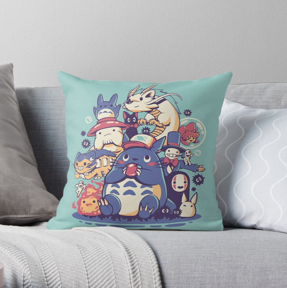 Creatures Spirits and friends Throw Pillow