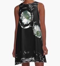 Blumen-Träne A-Linien Kleid