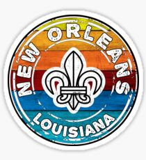 New Orleans Louisiana Mardi Gras Fleur De Lis Sticker
