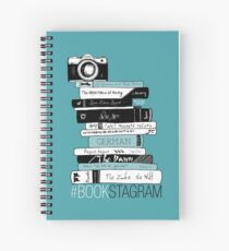 #BOOKSTAGRAM - Stack of Books (Mint Teal Green) Spiral Notebook