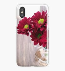 Bouquet of red flowers iPhone Case