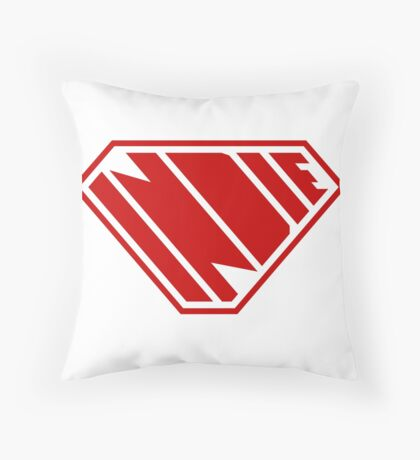 Indie SuperEmpowered (Red) Throw Pillow