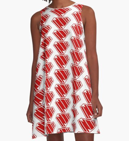 Indie SuperEmpowered (Red) A-Line Dress