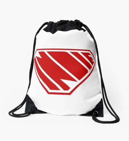 Indie SuperEmpowered (Red) Drawstring Bag