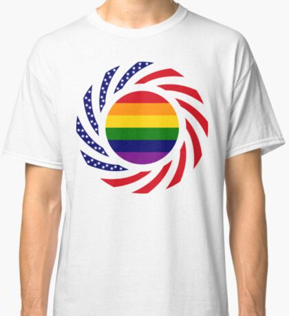 Rainbow American Patriot Flag Series Classic T-Shirt