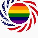 Rainbow American Patriot Flag Series by Carbon-Fibre Media