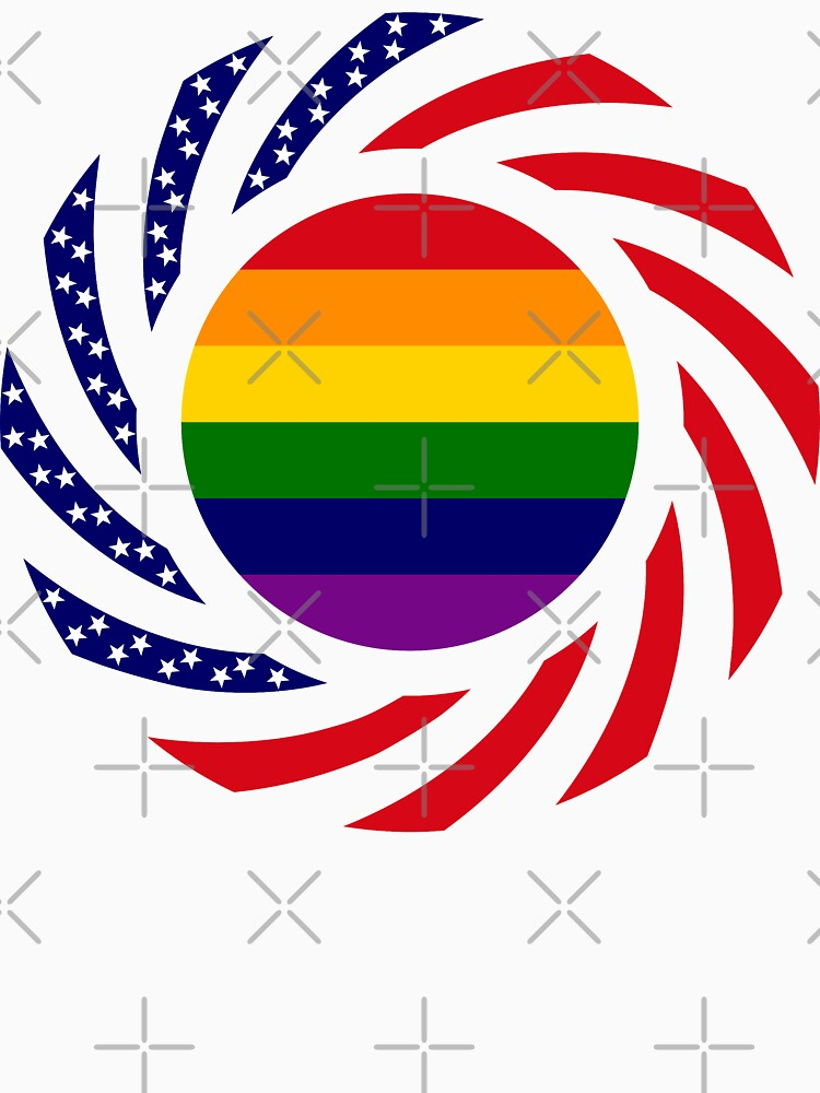 Rainbow American Patriot Flag Series by carbonfibreme