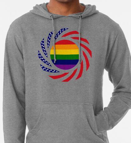 Rainbow American Patriot Flag Series Lightweight Hoodie