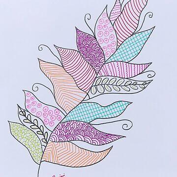 Zentangle Leaf by ranjaniart