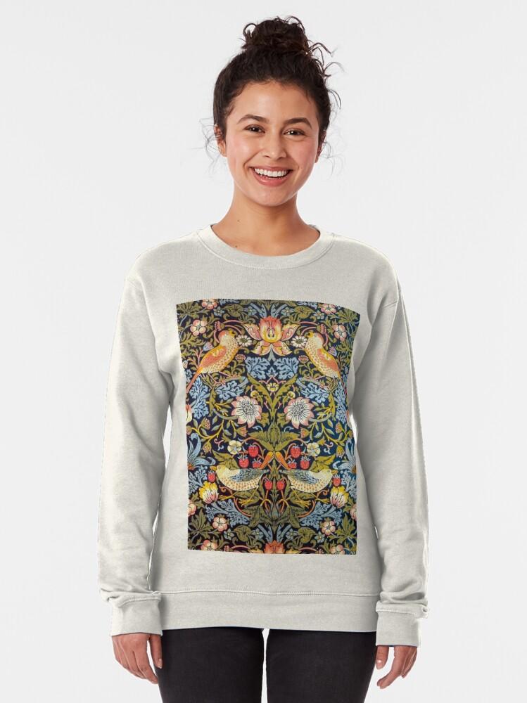 Alternate view of William Morris Strawberry Thief Design 1883 Pullover Sweatshirt