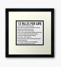 12 Regeln für das Leben jordan peterson (version 1) Gerahmtes Wandbild