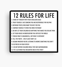 12 rules for life jordan peterson (version 1) Canvas Print