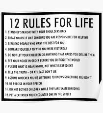 12 Regeln für das Leben jordan peterson (version 1) Poster