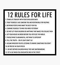 12 Regeln für das Leben jordan peterson (version 1) Fotodruck