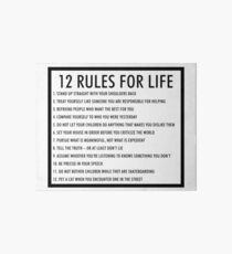 12 Regeln für das Leben jordan peterson (version 1) Galeriedruck