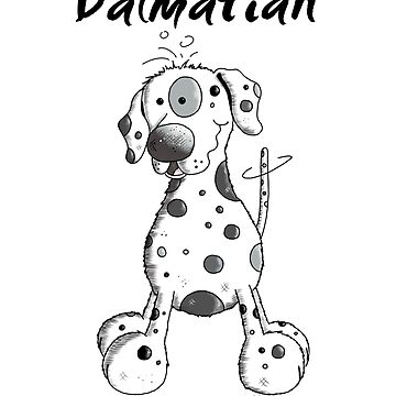 Happy Dalmatian Dog - Dogs - Dalmatians - Comic - Gift by modartis